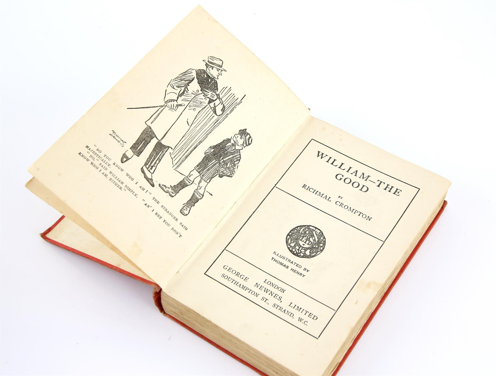 Crompton, Richmal, Just-William, first edition first printing, frontispiece and illustrations by - Image 2 of 2