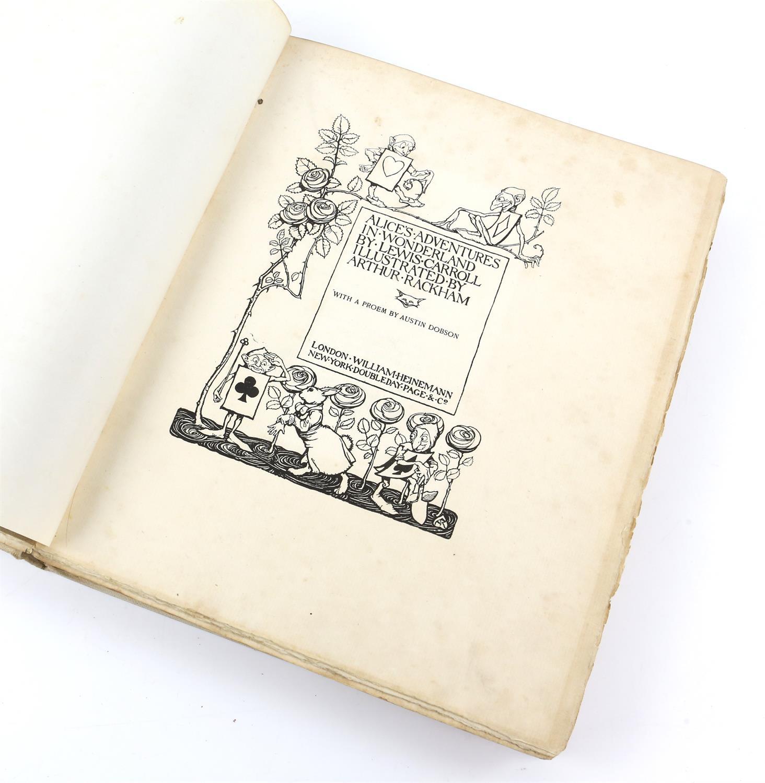 Carroll, Lewis, Alice's Adventures in Wonderland, illustrated by Arthur Rackham.W.Heinemann, - Image 2 of 17
