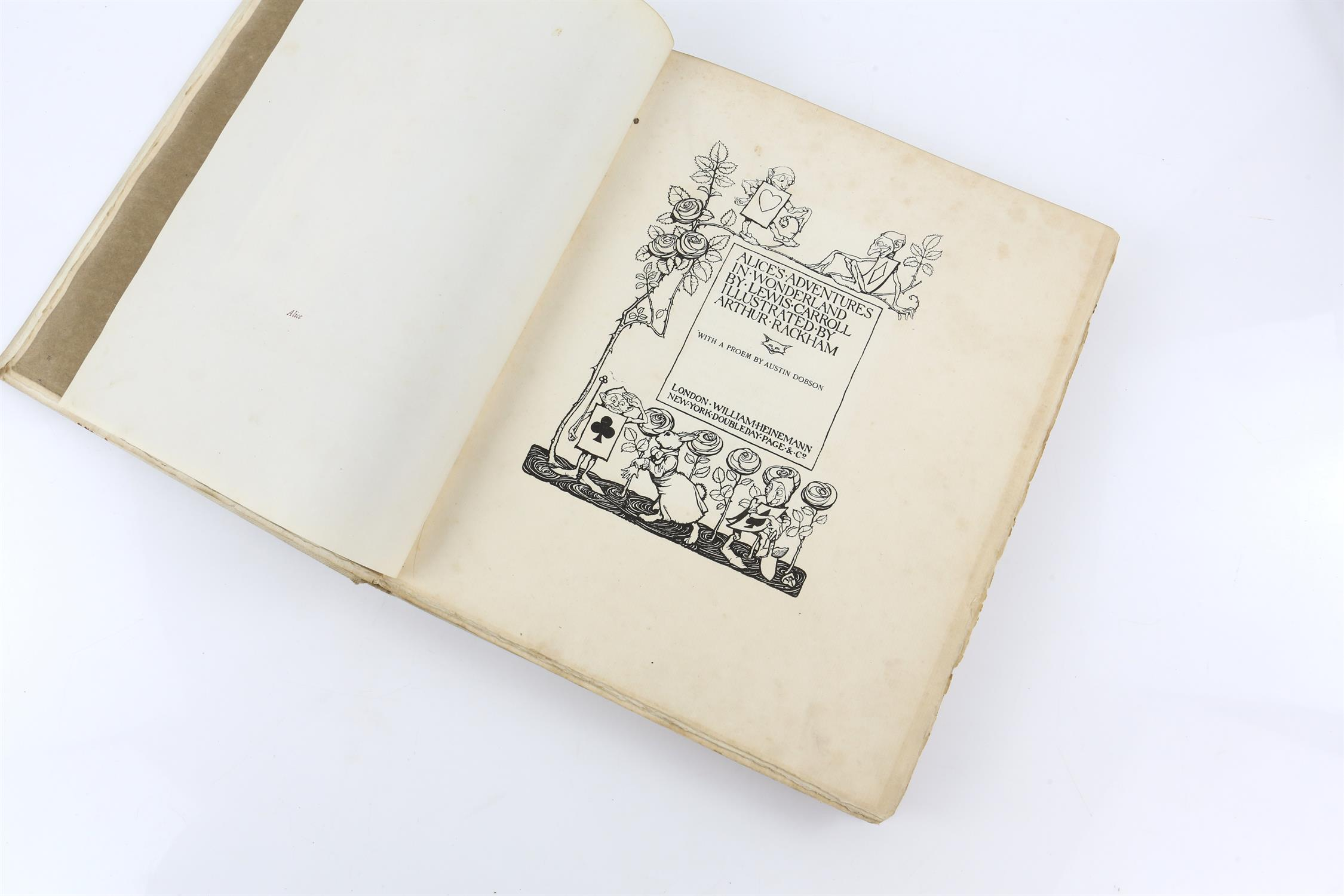 Carroll, Lewis, Alice's Adventures in Wonderland, illustrated by Arthur Rackham.W.Heinemann, - Image 17 of 17