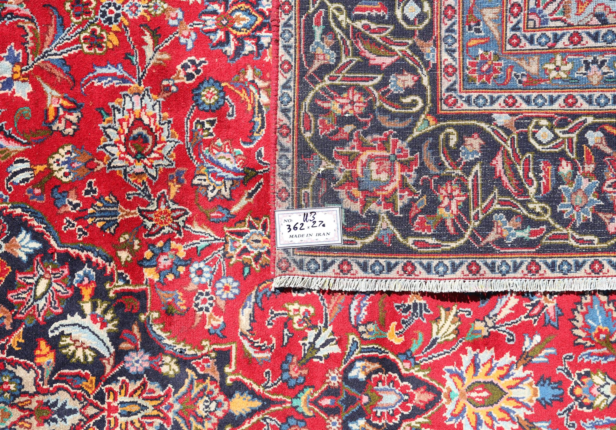 Large Persian full pile Kashan carpet, with traditional design of central floral medallion and - Image 2 of 2