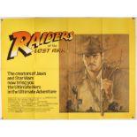 Raiders of the Lost Ark (1981) British Quad film poster, artwork by Richard Amsel,