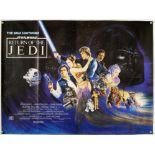 Star Wars The Return Of The Jedi (1983) British Quad film poster, artwork by Josh Kirby,