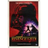 Star Wars Revenge of the Jedi (1983) US One sheet film poster, withdrawn poster due to the last