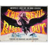 The Devil Rides Out (1968) British Quad film poster, Hammer Film Production starring Christopher