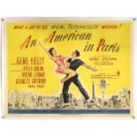 An American in Paris (1951) British Quad film poster, linen backed, 30 x 40 inches.