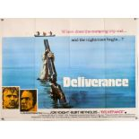 Deliverance (1972) British Quad film poster, Horror Thriller directed by John Boorman, folded,