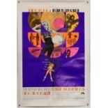 Barbarella (1968) US One Sheet film poster, Style B, starring Jane Fonda, linen backed,