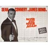 James Bond Never Say Never Again (1983) British Quad Advance film poster for Sean Connery's last