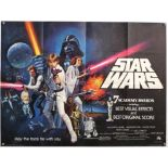 Star Wars (1977) British Quad film poster, Academy Awards Version, directed by George Lucas,