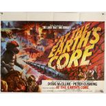 At The Earth's Core (1976) British Quad film poster, artwork by Tom Chantrell, folded,