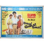 Elvis Presley Girls! Girls! Girls! (1962) British Quad film poster, folded, 30 x 40 inches.