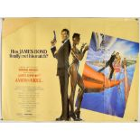 James Bond A View To A Kill (1985) British Quad film poster, folded, 30 x 40 inches.