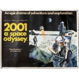 2001: A Space Odyssey (1968), British Quad film poster, artwork by Robert McCall, MGM, linen backed,