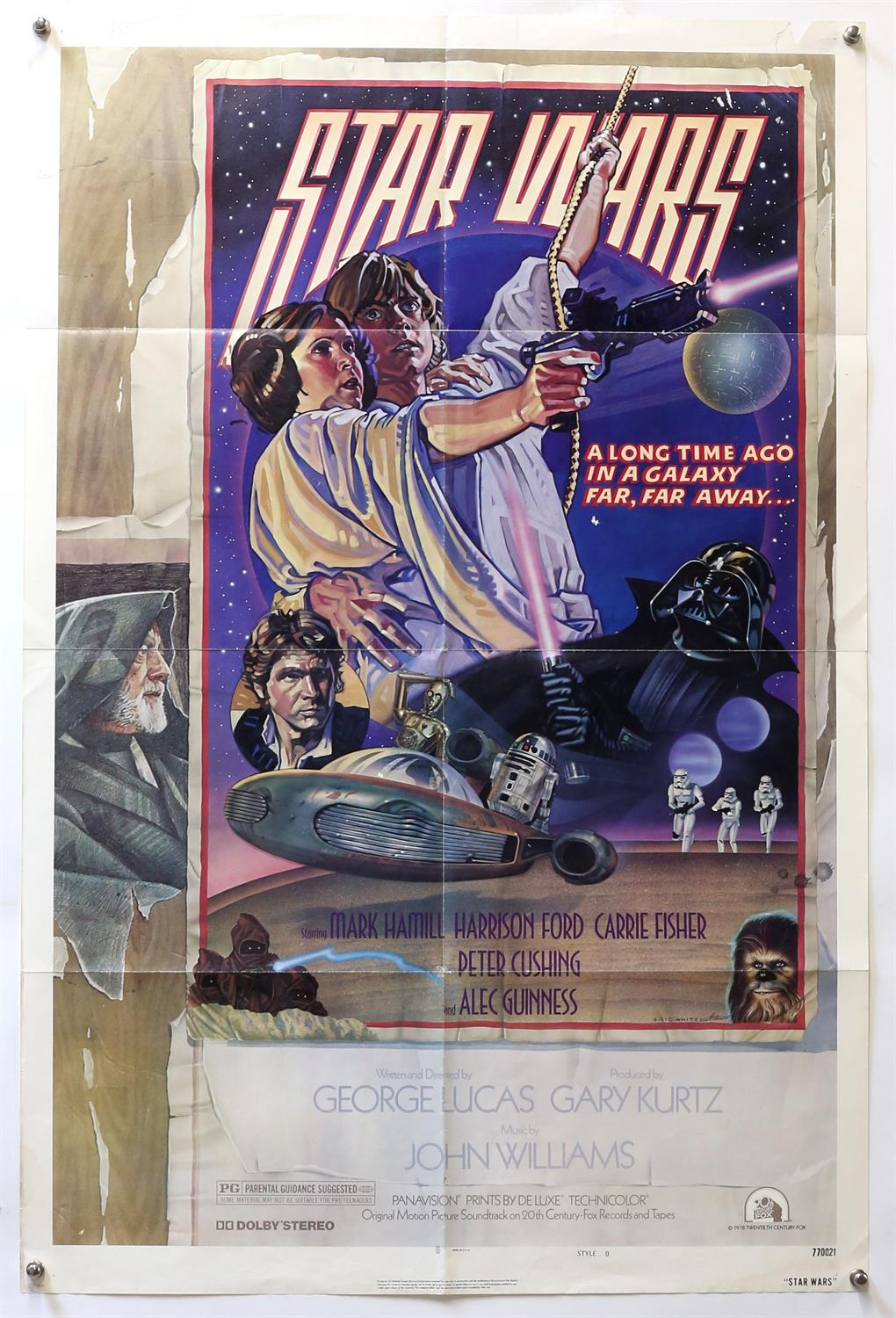 Star Wars (1977) US One Sheet film poster, Style D, artwork by Drew Struzan and Charles White,