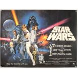 Star Wars (1977) British Quad film poster (Oscars style), directed by George Lucas and starring