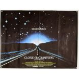 Close Encounters of the Third Kind (1977) British Quad film poster, written & directed by Steven