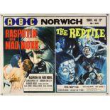 Rasputin - The Mad Monk / The Reptile (1996) British Quad double bill film poster,