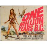 One Million Years B.C. (1966) British Quad film poster, artwork by Tom Chantrell,