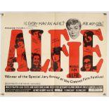 Alfie (1966) UK Half Sheet film poster, folded, 28 x 22 inches.