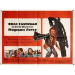 Magnum Force (1973) British Quad film poster, starring Clint Eastwood as Harry Callaghan,