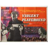 Violent Playground (1958) British Quad film poster