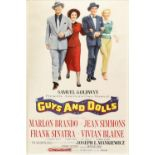 Guys and Dolls (1955) US One Sheet film poster, starring Marlon Brando, Jean Simmons & Frank
