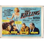 The Killing (1956) British Quad film poster, linen backed, 30 x 40 inches.