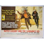 Butch Cassidy And The Sundance Kid (1969) British Quad film poster, artwork by Tom Beauvais,