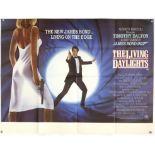 James Bond The Living Daylights (1987) British Style-B Quad film poster, starring Timothy Dalton,