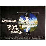 The Man Who Fell to Earth (1976) British Quad film poster, directed by Nicolas Roeg and starring