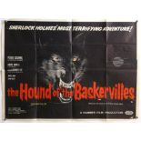 The Hound of The Baskervilles (1959) British Quad Poster, Hammer Classic of the famous Sherlock