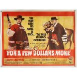 For A Few Dollars More (1965) British Quad film poster, Clint Eastwood spaghetti western,