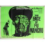 The Face of Fu Manchu (1960's) British Quad film poster