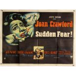 Sudden Fear (1952) British Quad film poster, starring Joan Crawford, folded, 30 x 40 inches.