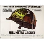 Full Metal Jacket (1987) British Quad film poster, directed by Stanley Kubrick, folded,