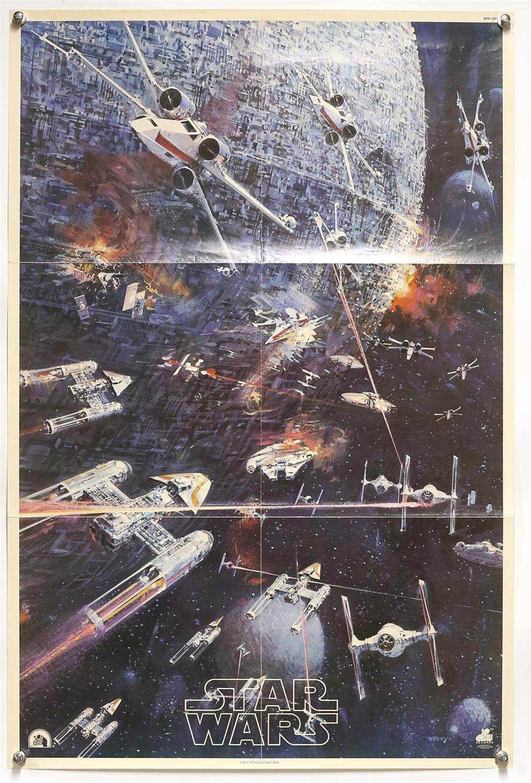 Star Wars (1977) 20th Century Records soundtrack poster, artwork by John Berkey, folded,