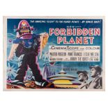 Forbidden Planet (1956) British Quad film poster from first release of the Iconic Robby the Robot