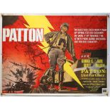 Patton (1970) British Quad film poster, artwork by Tom Chantrell, rolled, 30 x 40 inches.