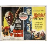 Monster of Terror / The Haunted Palace (1966) British Quad double bill film poster, linen backed,