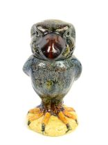 Martin ware style Wally Bird jar and cover, 22.5cm