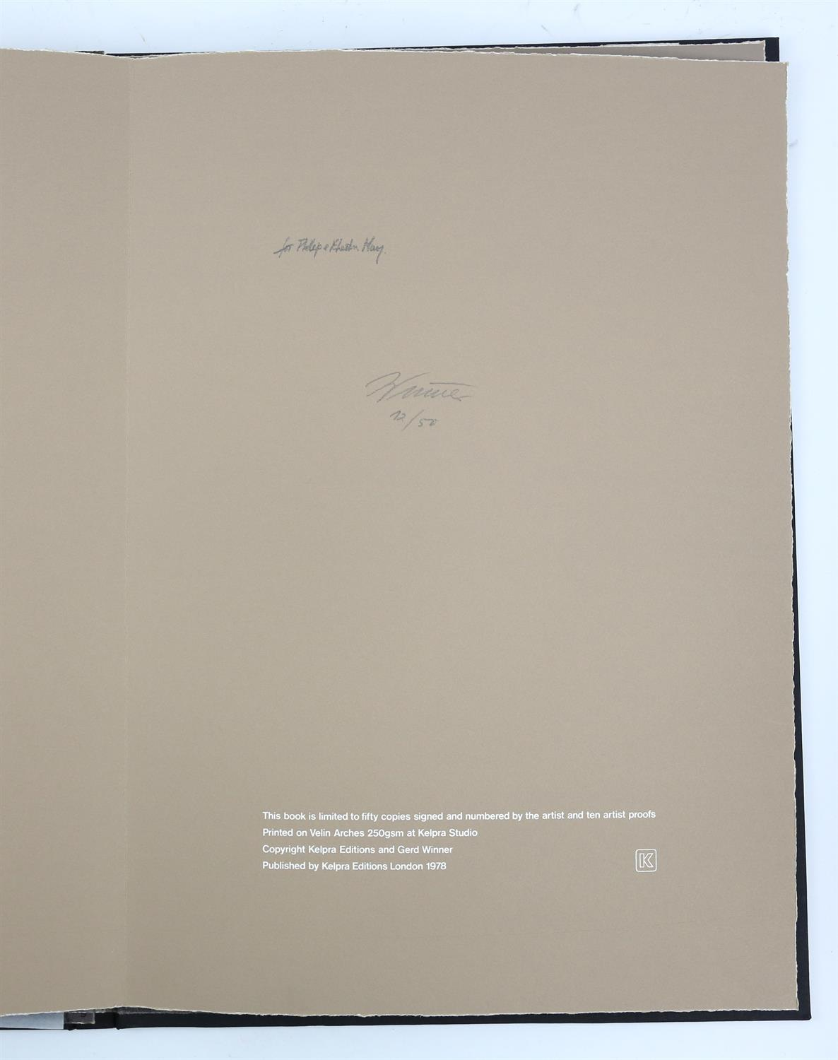 § Gerd Winner (German, b.1936). 'East One' portfolio of prints, signed and numbered 12/50 in pencil - Image 7 of 8