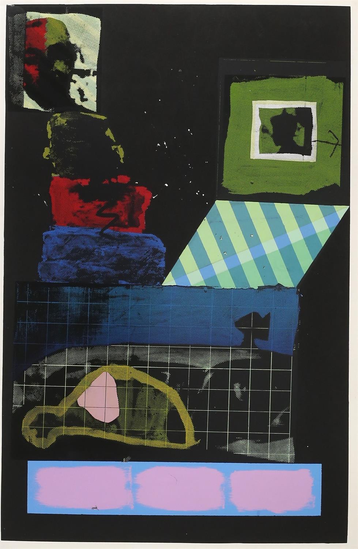 Kip Gresham (British, b.1951). Two large screenprints: 'Umbra-Penumbra' (1978). Signed,