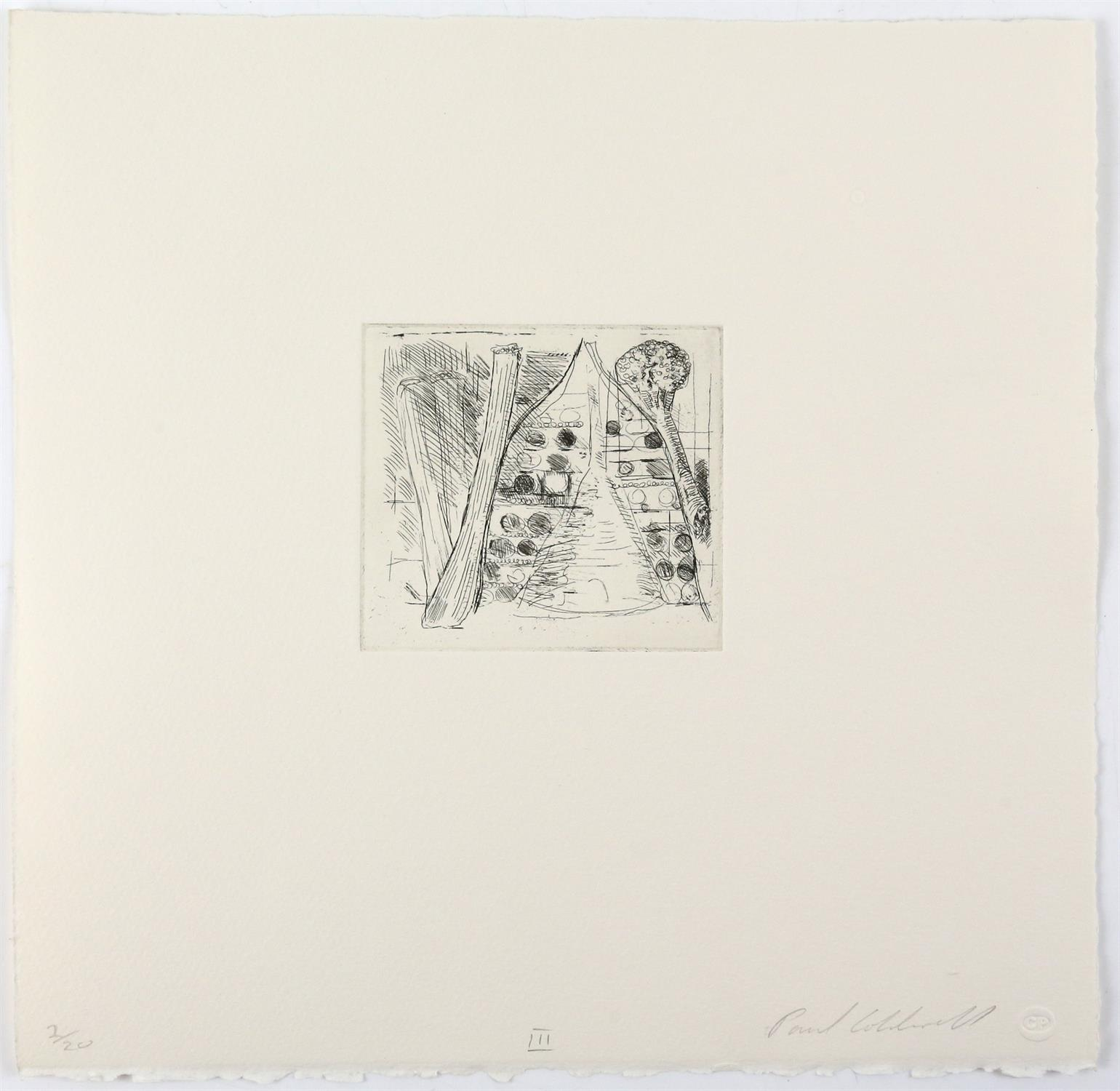 Paul Coldwell (British, b.1952). Three etchings from the 'The Studio' folio, 1988, each signed, - Image 4 of 11