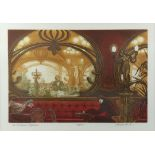 Frank Martin, British 1921-2005, 'The Brasserie Hoffmann', signed limited edition print, 149/150,