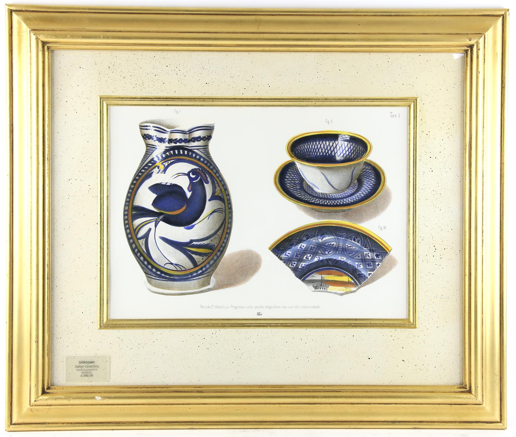 Five contemporary Italian lithographs, depicting ceramics of various Italian origins, - Image 3 of 10