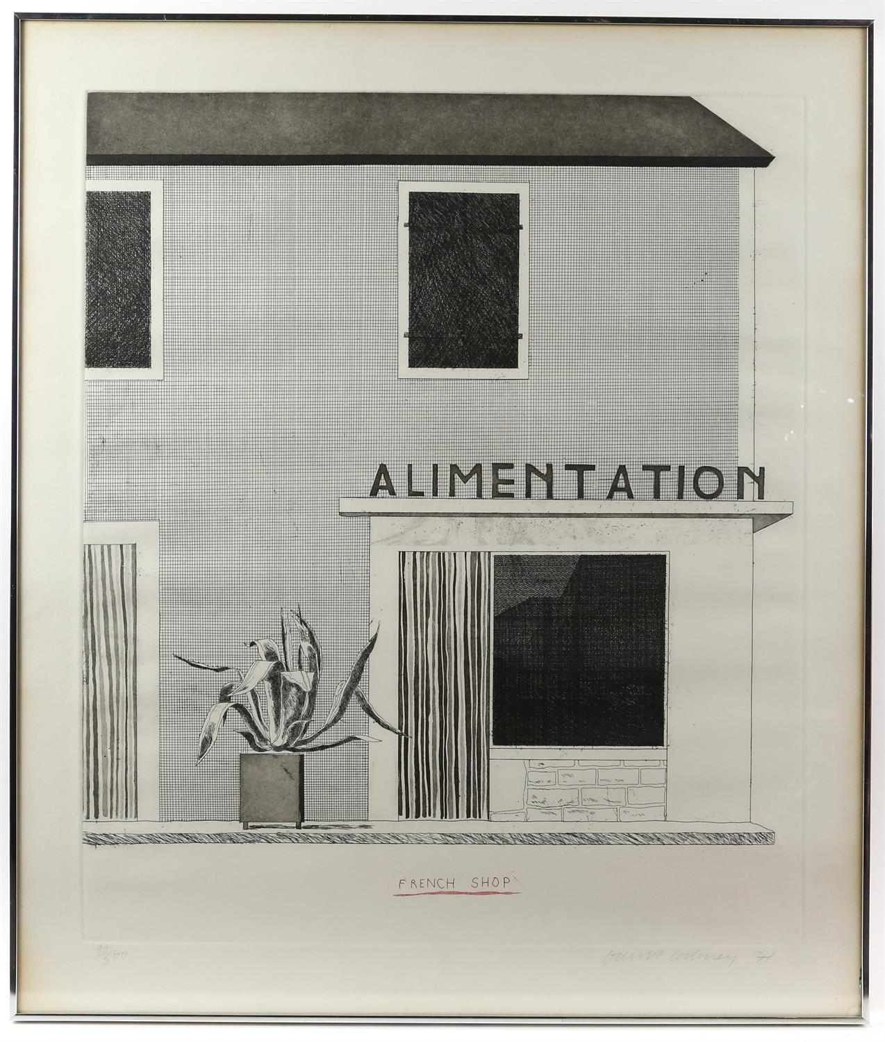 § David Hockney (British, b.1937). 'French Shop', etching and aquatint, signed and dated '71 in - Image 2 of 4