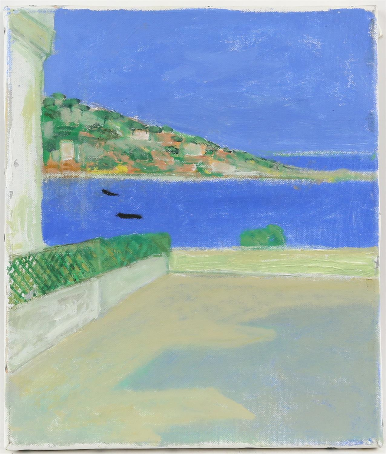 Richard Beer (British, 1928-2017). Two European landscapes, oil on canvas, unsigned, - Image 3 of 3