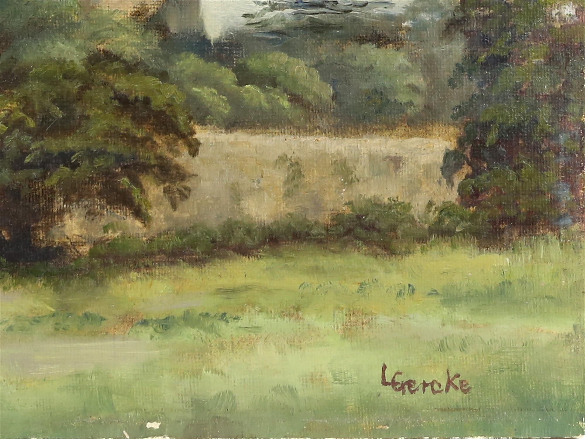 Lawrence Gercke, Chichester Cathedral, oil on canvas board, signed. 35 x 45cm. Along with a - Image 2 of 6