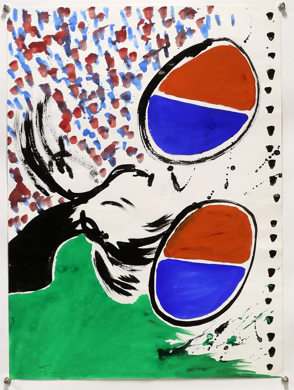 Kip Gresham (British, b.1951). Original abstract painting, signed lower left, unframed, - Image 2 of 2
