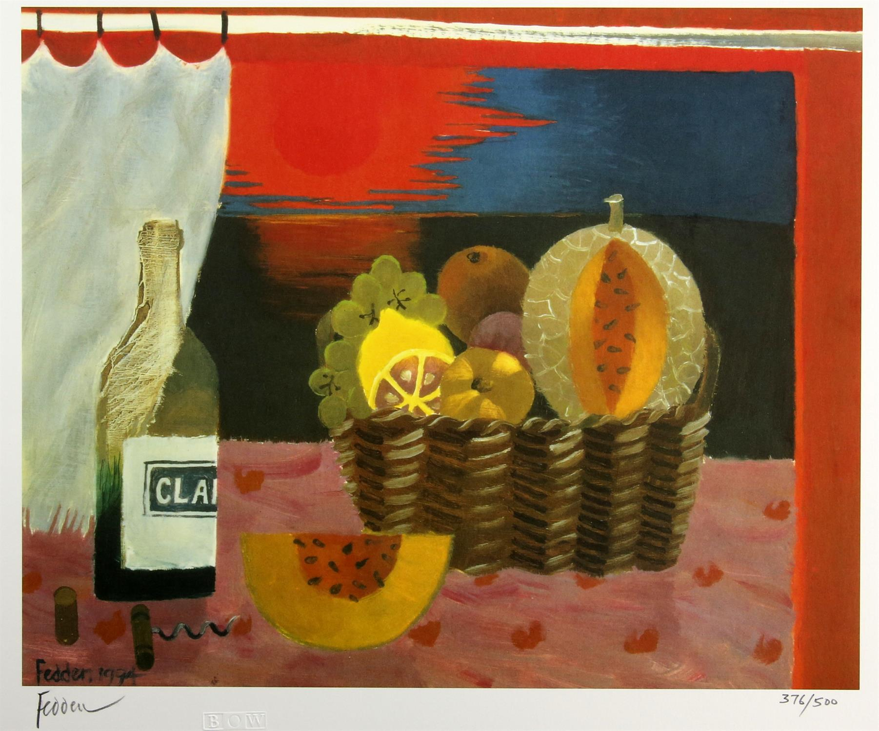 Mary Fedden (British, 1915-2012), 'Red Sunset', lithograph, signed and numbered 376/500 in pencil